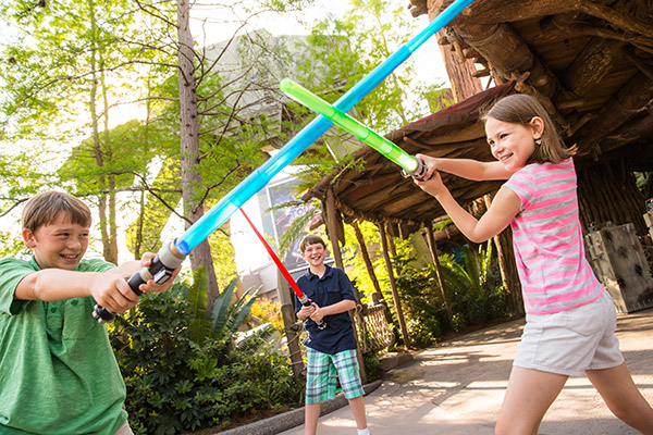 Children playing Star Wars