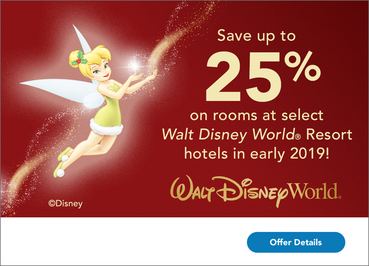 Give the Gift of a Magical Stay – Book Early & Save Up to 25% on Rooms at Select Disney Resort Hotels