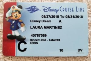 Each guest sailing on the Disney Cruise line receives their own Key to the World Card.